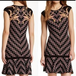 Hale Bob Printed Capsleeve Dress